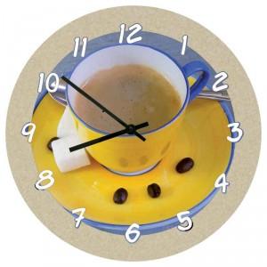 Horloge murale ronde avec surface structurée