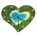 Horloge murale en forme de coeur - 245 x 200 mm