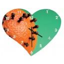 Horloge murale en forme de coeur - 355 x 285 mm