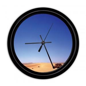 Horloge murale personnailsable avec un cadre noir - Horloge murale personnalisable ...