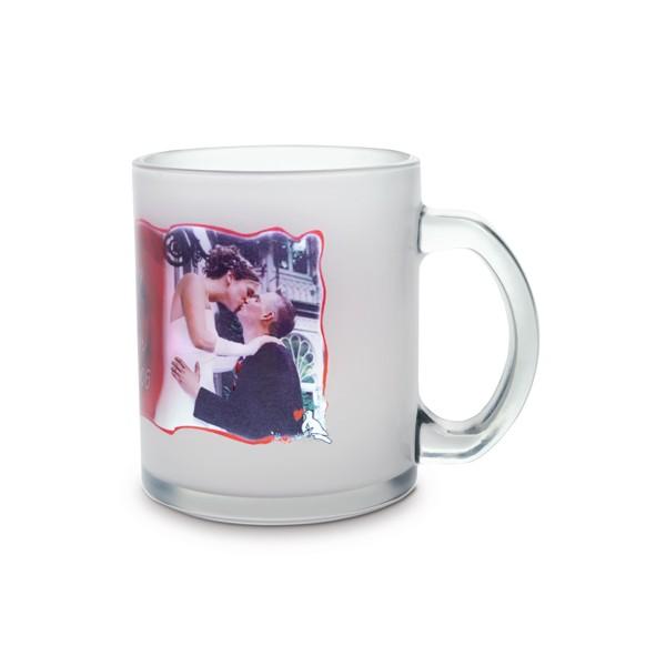 mug en verre satin avec visuel de votre choix. Black Bedroom Furniture Sets. Home Design Ideas