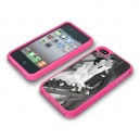 Coque rose pour Iphone 4 & 4S SMART-COVER CLIP avec plaque Chromaluxe