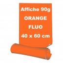 Affiches 40 x 60 cm (A2) - papier 90 g offset  fluo orange - 70 ex