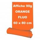 Affiches 60 x 80 cm (A1) - papier 90 g offset  fluo orange - 95 ex