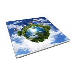 Toile imprimée carré 40 x 40 cm - 2 ex