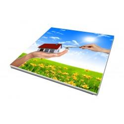Toile imprimée carré 45 x 45 cm - 3 ex