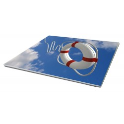 Toile imprimée paysage 60 x 20 cm - 6 ex