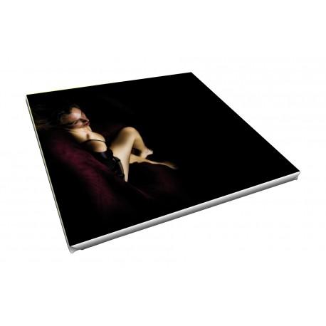 Toile imprimée carré 20 x 20 cm