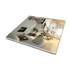 Toile imprimée carré 105 x 105 cm