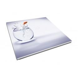 Toile imprimée carré 80 x 80 cm - 3 ex