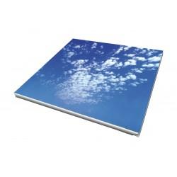 Toile imprimée carré 90 x 90 cm - 2 ex