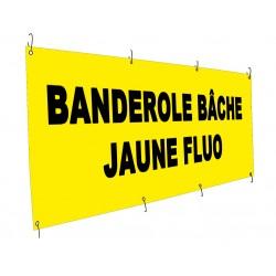 Banderole bâche Tyvek jaune fluo indéchirable 130g - Utilisation courte durée