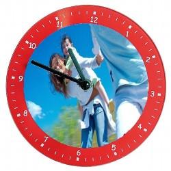 Horloge murale en verre lisse