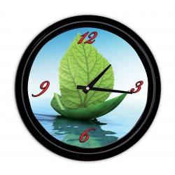 Horloge murale avec couvercle Ø 200 mm, Couleur du cadre Noir