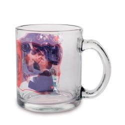 Mug en verre transparent polie