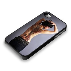 Coque pour Iphone 4 & 4S SMART-COVER STICK avec plaque Chromaluxe