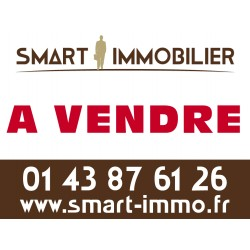 Panneau A VENDRE/VENDU - 80 x 60 cm - Agences immobilières (40 ex)