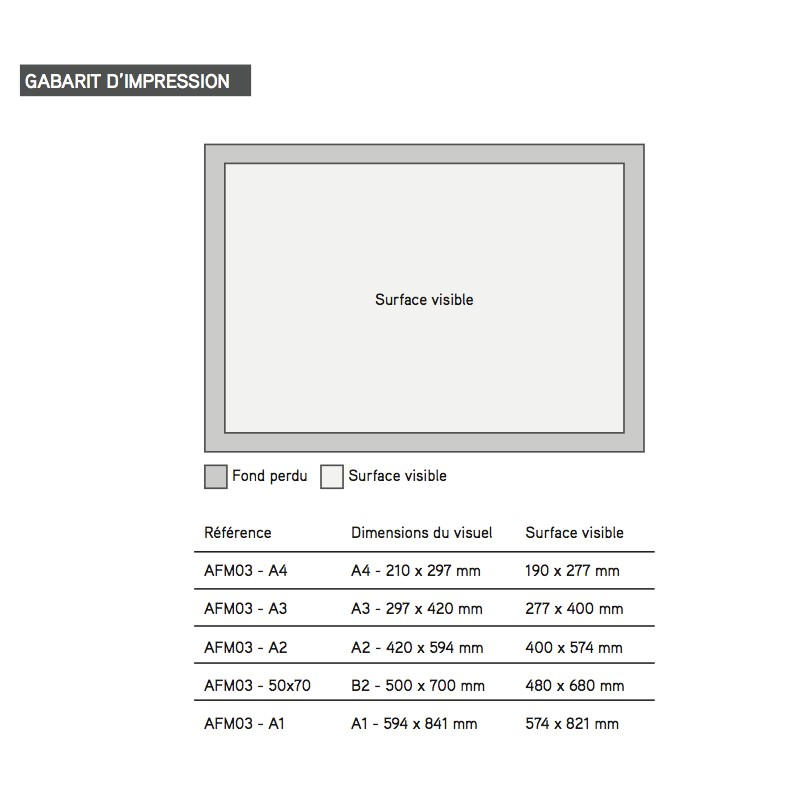 cadre aluminium almak format a4. Black Bedroom Furniture Sets. Home Design Ideas