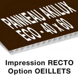 Panneau Akilux ECO - 40 x 60 cm - recto - 20 ex