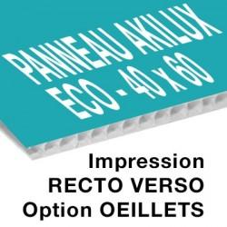 Panneau Akilux ECO - 40 x 60 cm - recto verso - 1 ex