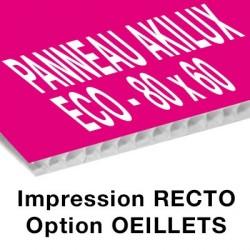 Panneau Akilux ECO - 80 x 60 cm - recto - 8 ex