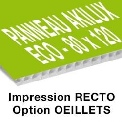 Panneau Akilux ECO - 80 x 120 cm - recto - 800 ex