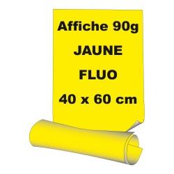 Affiches 40 x 60 cm (A2) - papier 90 g offset  fluo jaune - 10 ex