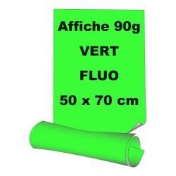 Affiches 50 x 70 cm - papier 90 g offset  fluo vert - 5 ex