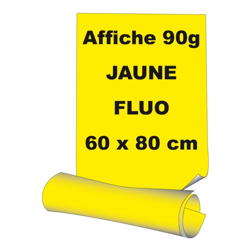 affiches 60 x 80 cm a1 papier 90 g offset fluo jaune 85 ex. Black Bedroom Furniture Sets. Home Design Ideas