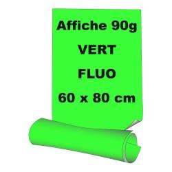 Affiches 60 x 80 cm (A1) - papier 90 g offset  fluo vert - 5 ex