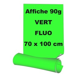 Affiches 70 x 100 cm - papier 90 g offset  fluo vert - 90 ex