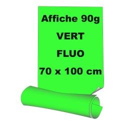 Affiches 70 x 100 cm - papier 90 g offset  fluo vert - 100 ex