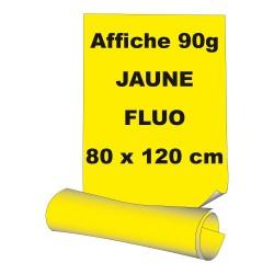 Affiches 80 x 120 cm (A0) - papier 90 g offset  fluo jaune - 5 ex