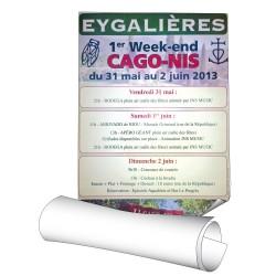Affiches 30 x 42 cm (A3) - papier 140 g Cyclus Offset - 50 ex