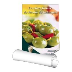 Affiches 70 x 100 cm - papier 135 g couché brillant - 50 ex
